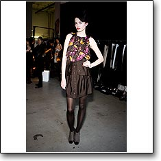 Twinkle Fashion Show Backstage New York Autumn Winter '09 '10 © interneTrends.com