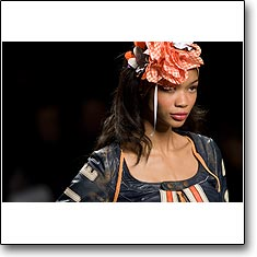 Frankie Morello Fashion show Milan Spring Summer '08 © interneTrends.com model Chanel Iman