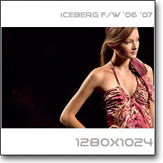 Click to download this wallpaper Iceberg F/W '06 '07 model Solange Wilvert