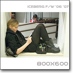 Click to download this wallpaper Iceberg F/W '06 '07  model Sasha Pivovarova