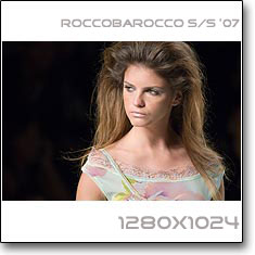 Click to download this wallpaper Roccobarocco S/S '07  model Jeisa Chiminazzo