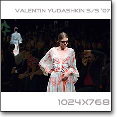Click to download this wallpaper Valentin Yudashkin S/S '07