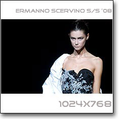 Click to download this wallpaper Ermanno Scervino S/S  '08 model Ksenia Kahnovich