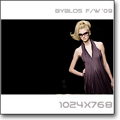 Click to download this wallpaper Byblos F/W  '09 model Alexandra Tretter