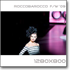 Click to download this wallpaper Roccobarocco F/W  '09 model Inguna Butane