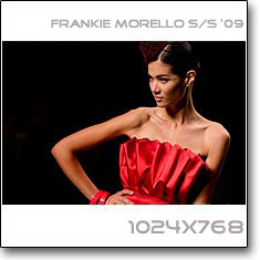 Click to download this wallpaper Frankie Morello S/S  '09 model Sheila Marquez