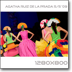 Click to download this wallpaper Agatha Ruiz de la Prada S/S  '09