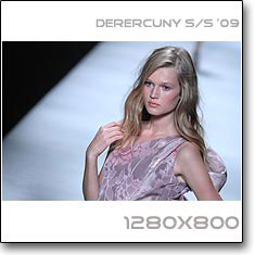 Click to download this wallpaper Derercuny S/S  '09 model Toni Garrn
