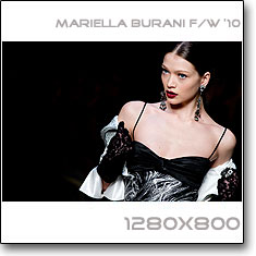Click to download this wallpaper Mariella Burani F/W  '10 model Margaryta Senchylo