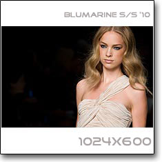 Click to download this wallpaper Blumarine S/S '10 model Heloise Guerin