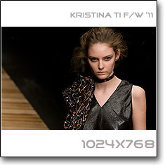 Click to download this wallpaper Kristina Ti F/W  '11 model Auguste Tomasuite