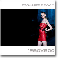 Click to download this wallpaper Dsquared 2  F/W '11 model Frida Gustavsson