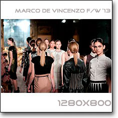 Click to download this wallpaper Marco De Vincenzo  F/W '13