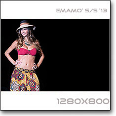 Click to download this wallpaper Emamo S/S  '13 model Melissa Satta